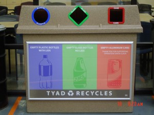 apts california: recycle bins