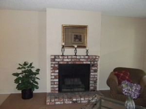 apts california: fireplace