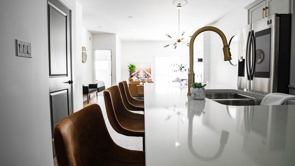 Home, Kitchen, Interior, Kitchen Island, Chairs